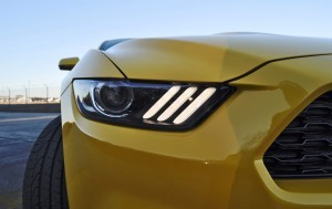 HD Road Test Review - 2015 Ford Mustang EcoBoost in Triple Yellow with Performance Pack 168