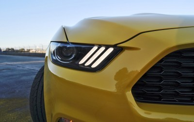 HD Road Test Review - 2015 Ford Mustang EcoBoost in Triple Yellow with Performance Pack 169