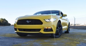 HD Road Test Review - 2015 Ford Mustang EcoBoost in Triple Yellow with Performance Pack 178