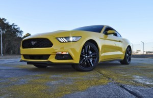 HD Road Test Review - 2015 Ford Mustang EcoBoost in Triple Yellow with Performance Pack 181