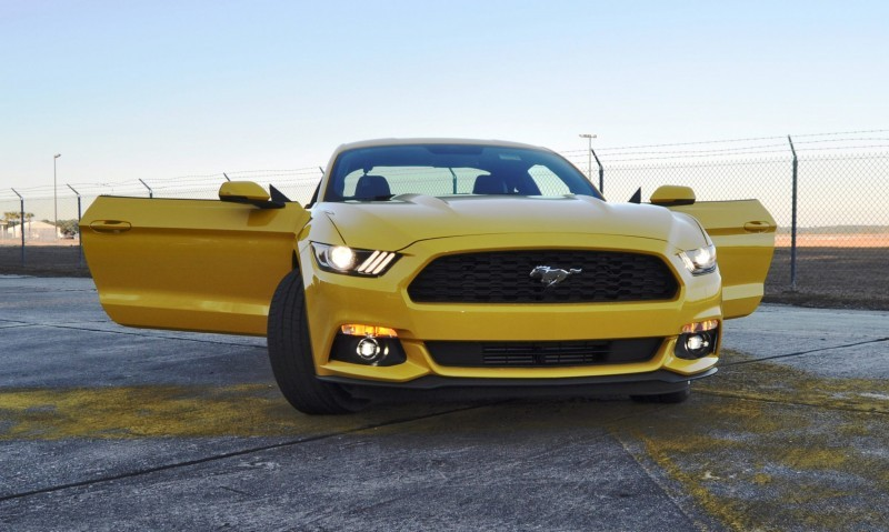 HD Road Test Review - 2015 Ford Mustang EcoBoost in Triple Yellow with Performance Pack 185