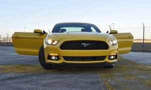 HD Road Test Review - 2015 Ford Mustang EcoBoost in Triple Yellow with Performance Pack 186