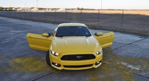 HD Road Test Review - 2015 Ford Mustang EcoBoost in Triple Yellow with Performance Pack 191