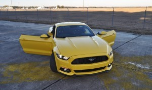 HD Road Test Review - 2015 Ford Mustang EcoBoost in Triple Yellow with Performance Pack 193