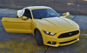 HD Road Test Review - 2015 Ford Mustang EcoBoost in Triple Yellow with Performance Pack 196