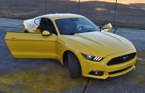 HD Road Test Review - 2015 Ford Mustang EcoBoost in Triple Yellow with Performance Pack 197