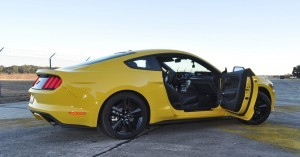 HD Road Test Review - 2015 Ford Mustang EcoBoost in Triple Yellow with Performance Pack 203