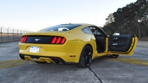 HD Road Test Review - 2015 Ford Mustang EcoBoost in Triple Yellow with Performance Pack 206