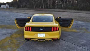 HD Road Test Review - 2015 Ford Mustang EcoBoost in Triple Yellow with Performance Pack 208