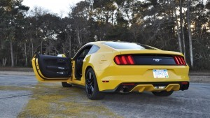HD Road Test Review - 2015 Ford Mustang EcoBoost in Triple Yellow with Performance Pack 210