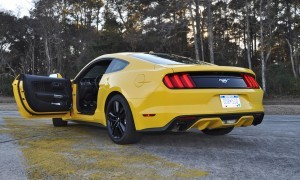 HD Road Test Review - 2015 Ford Mustang EcoBoost in Triple Yellow with Performance Pack 211
