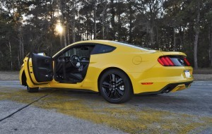 HD Road Test Review - 2015 Ford Mustang EcoBoost in Triple Yellow with Performance Pack 213