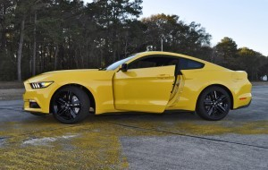 HD Road Test Review - 2015 Ford Mustang EcoBoost in Triple Yellow with Performance Pack 217