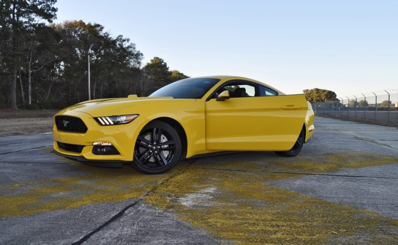 HD Road Test Review - 2015 Ford Mustang EcoBoost in Triple Yellow with Performance Pack 220