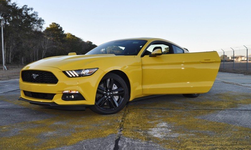 HD Road Test Review - 2015 Ford Mustang EcoBoost in Triple Yellow with Performance Pack 221