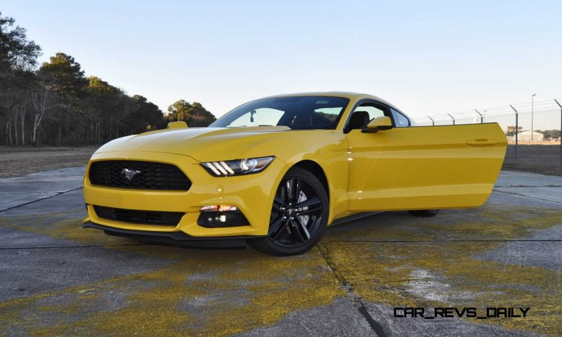 HD Road Test Review - 2015 Ford Mustang EcoBoost in Triple Yellow with Performance Pack 222