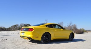 HD Road Test Review - 2015 Ford Mustang EcoBoost in Triple Yellow with Performance Pack 23