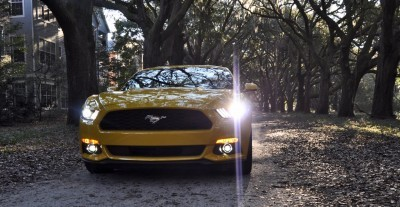 HD Road Test Review - 2015 Ford Mustang EcoBoost in Triple Yellow with Performance Pack 231