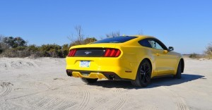 HD Road Test Review - 2015 Ford Mustang EcoBoost in Triple Yellow with Performance Pack 27