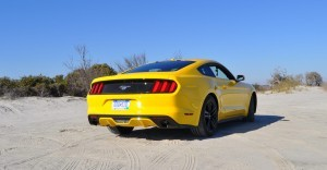 HD Road Test Review - 2015 Ford Mustang EcoBoost in Triple Yellow with Performance Pack 28