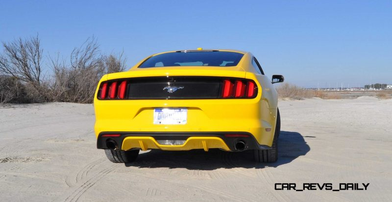 HD Road Test Review - 2015 Ford Mustang EcoBoost in Triple Yellow with Performance Pack 31