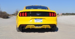 HD Road Test Review - 2015 Ford Mustang EcoBoost in Triple Yellow with Performance Pack 33