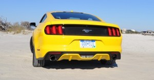 HD Road Test Review - 2015 Ford Mustang EcoBoost in Triple Yellow with Performance Pack 34