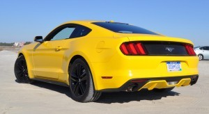 HD Road Test Review - 2015 Ford Mustang EcoBoost in Triple Yellow with Performance Pack 37