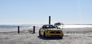 HD Road Test Review - 2015 Ford Mustang EcoBoost in Triple Yellow with Performance Pack 43