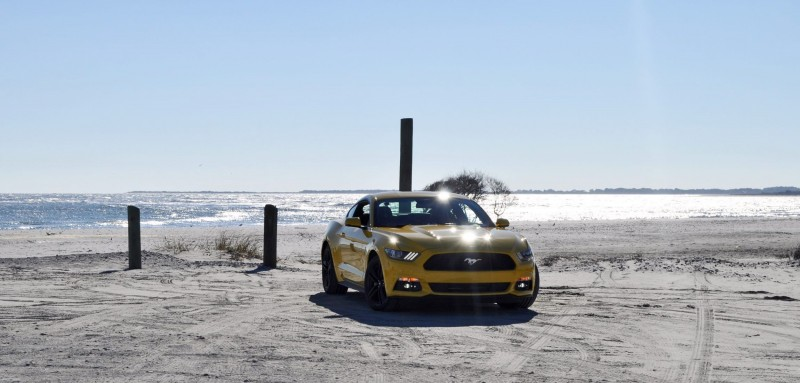 HD Road Test Review - 2015 Ford Mustang EcoBoost in Triple Yellow with Performance Pack 44