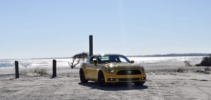HD Road Test Review - 2015 Ford Mustang EcoBoost in Triple Yellow with Performance Pack 46