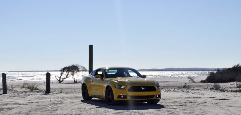 HD Road Test Review - 2015 Ford Mustang EcoBoost in Triple Yellow with Performance Pack 48
