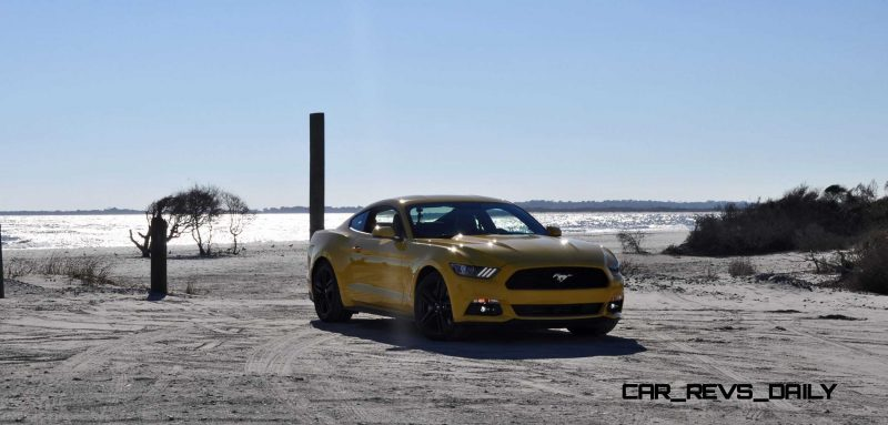HD Road Test Review - 2015 Ford Mustang EcoBoost in Triple Yellow with Performance Pack 50