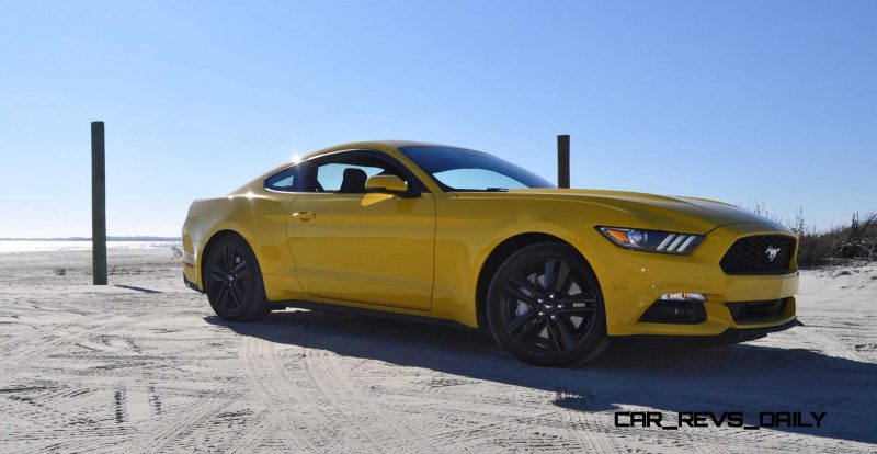 HD Road Test Review - 2015 Ford Mustang EcoBoost in Triple Yellow with Performance Pack 60