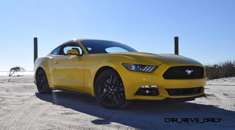HD Road Test Review - 2015 Ford Mustang EcoBoost in Triple Yellow with Performance Pack 63