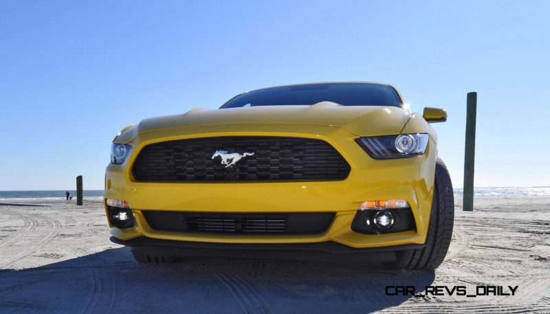 HD Road Test Review - 2015 Ford Mustang EcoBoost in Triple Yellow with Performance Pack 70