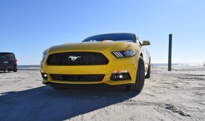 HD Road Test Review - 2015 Ford Mustang EcoBoost in Triple Yellow with Performance Pack 72
