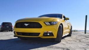 HD Road Test Review - 2015 Ford Mustang EcoBoost in Triple Yellow with Performance Pack 73