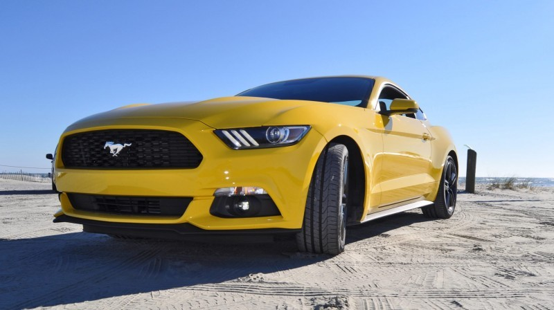 HD Road Test Review - 2015 Ford Mustang EcoBoost in Triple Yellow with Performance Pack 74
