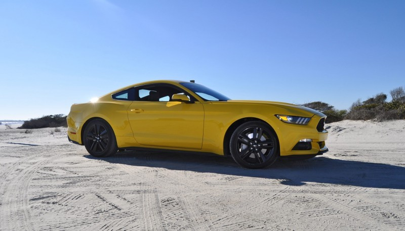 HD Road Test Review - 2015 Ford Mustang EcoBoost in Triple Yellow with Performance Pack 79