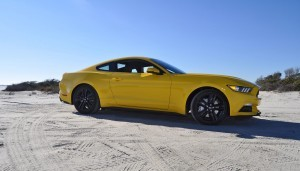 HD Road Test Review - 2015 Ford Mustang EcoBoost in Triple Yellow with Performance Pack 80