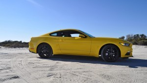 HD Road Test Review - 2015 Ford Mustang EcoBoost in Triple Yellow with Performance Pack 81