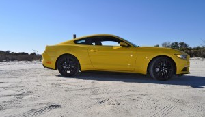 HD Road Test Review - 2015 Ford Mustang EcoBoost in Triple Yellow with Performance Pack 82