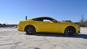 HD Road Test Review - 2015 Ford Mustang EcoBoost in Triple Yellow with Performance Pack 83
