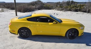 HD Road Test Review - 2015 Ford Mustang EcoBoost in Triple Yellow with Performance Pack 87