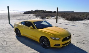 HD Road Test Review - 2015 Ford Mustang EcoBoost in Triple Yellow with Performance Pack 89