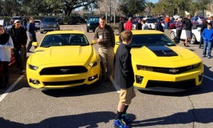 HD Road Test Review - 2015 Ford Mustang EcoBoost in Triple Yellow with Performance Pack 9