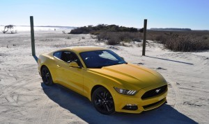 HD Road Test Review - 2015 Ford Mustang EcoBoost in Triple Yellow with Performance Pack 90