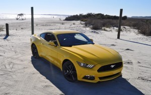 HD Road Test Review - 2015 Ford Mustang EcoBoost in Triple Yellow with Performance Pack 91