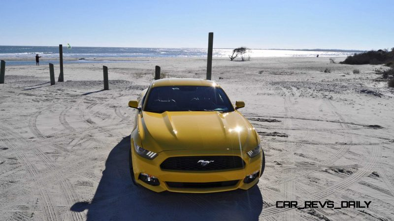 HD Road Test Review - 2015 Ford Mustang EcoBoost in Triple Yellow with Performance Pack 94
